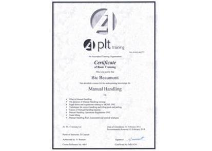 Bic takes on manual handling PLT Training 5x7cm WEB