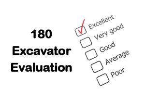 PLT Training 180 Excavator Evaluation