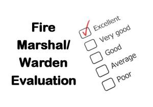 PLT Training Fire Marshal_Warden Evaluation