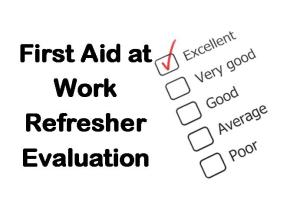 PLT Training First Aid at Work Refresher Evaluation