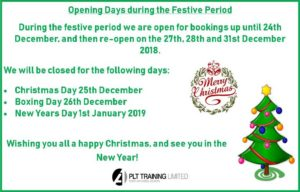 Festive Period Openiing Days