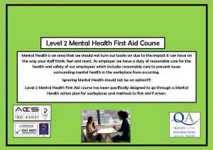 Mental Health First Aid slidew